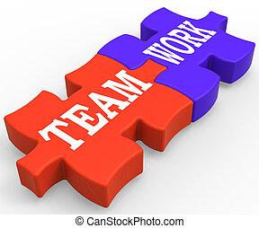 közösség, csapatmunka, munka, látszik