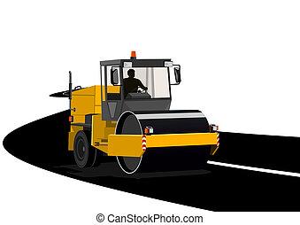 közútak, asphalting