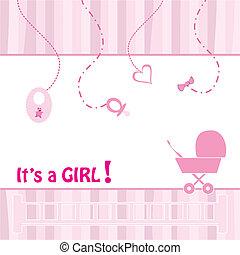 közlemény, születés, kártya