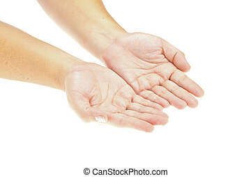 közzétesz, kéz, product., kép, elszigetelt, object., hatalom kezezés, nyílik, -e