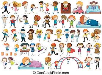 különböző, állhatatos, gyerekek