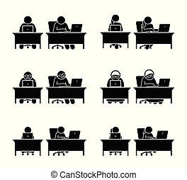különböző, család, számítógép, tagok, jár, használ, online.