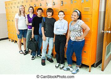 különböző, diákok, izbogis