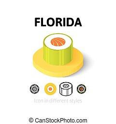 különböző, florida, mód, ikon