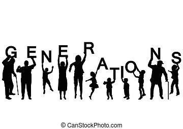 különböző, irodalomtudomány, emberek, évek, körvonal, birtok, szó, nemzedék