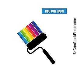 különböző, leszed, festék, befest, hajcsavaró, ikon