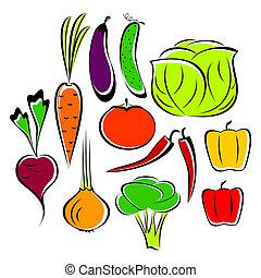 különböző, vegetables.