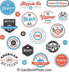 különféle, emblémák, elnevezés, bicikli