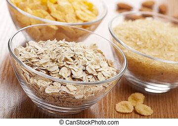 különféle, gabonafélék