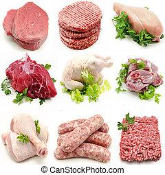 különféle, hús, fali