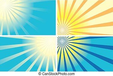 küllők, állhatatos, szín, háttér, -, vektor