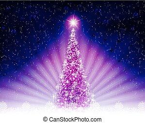 küllők, bíbor, light., fa, fényes, karácsonyi üdvözlőlap