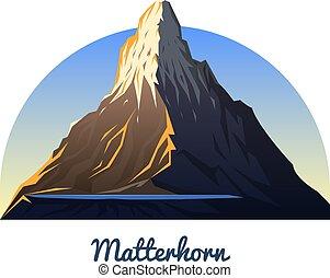 külső, mountain., kempingezés, daylight., csúcs, tető, region., korán, zermatt, climbing., hegy, matterhorn, switzerland., valais, vagy, táj, utazás