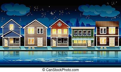 külváros, éjszaka