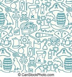 kalózkodik, sziget, (sabre, tarka selyemkendő, hajó, vasmacska, begörbít, öreg, palms), állhatatos, koponya, kis kémtávcső, egyenes, kormánylapát, híg, láda, rum, löveg, játékkockák, kincs, ikonok, puskacső, térkép, kalap, hegy, háromszög