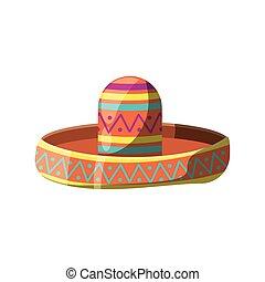 kalap, fehér, mexikói, háttér