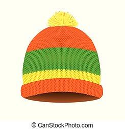 kalap, kötött, tél