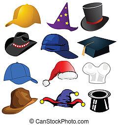 kalapok, különféle