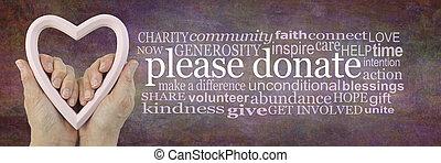 kampány, társult, szavak, fundraising