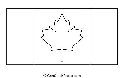 kanada, áttekintés, jelkép, lobogó, vektor, ikon, design.