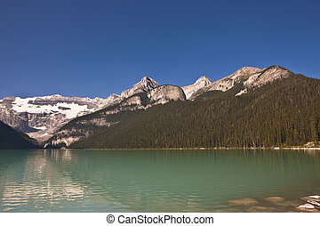 kanada, banff, louise, -, nemzeti park, tó, alberta