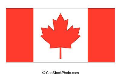 kanada, jelkép, lobogó, vektor, ikon, design.