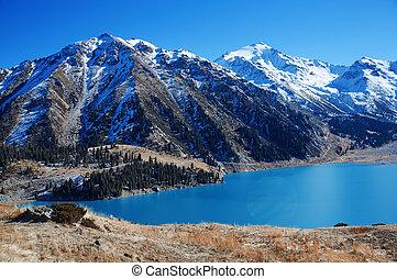 kanada, tó, moréna