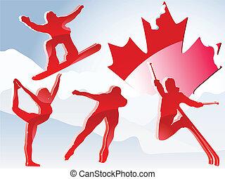 kanada, vancouver, játékok, tél, 2010.