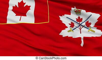 kanadai, hadsereg, seamless, lobogó, closeup, bukfenc