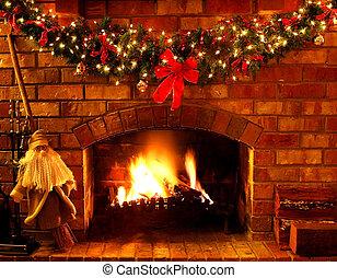kandalló, karácsony