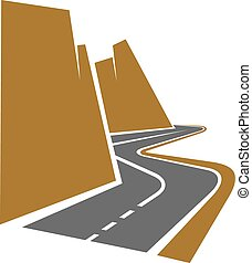 kanyargós út, vagy, autóút, hegy