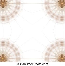 kanyarodik, arany, korong, -, 4, border/business, grafikus