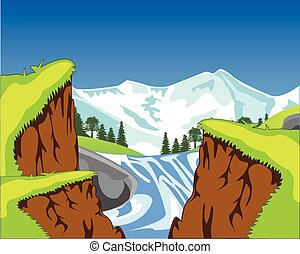 kanyon, vízesés