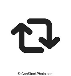 kapcsol, vektor, jelkép, nyílvesszö icon