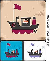 kapitány, hajó