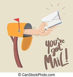 kapott, ön, mail!, bír