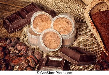 kapszula, csokoládé