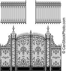 kapu, kerítés
