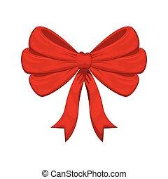 karácsony, íj, elszigetelt, ikon
