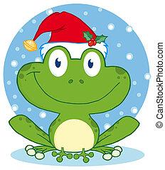 karácsony, béka, boldog