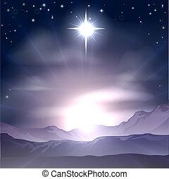 karácsony, betlehem, nativit, csillag