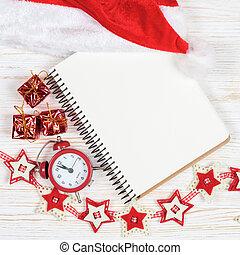 karácsony, háttér, év, új