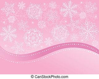 karácsony, háttér, rózsaszínű