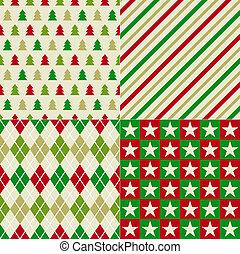 karácsony, háttér, seamless