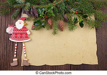 karácsony, háttér, szüret
