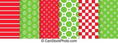 karácsony, karácsony, illustration., vektor, seamless, texture., pattern.
