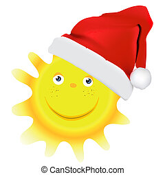 karácsony, nap, vektor, tervezés