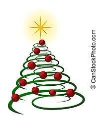karácsonyfa, elvont