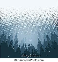 karácsonyi üdvözlőlap, köszönés, vektor