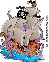 kar, hajó, öreg, kalóz
